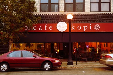 Winner of Best of CU's  Best Cafe: Cafe Kopi in Downtown Champaign, IL. Photo by Allison Macey