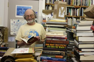 Bill Thornhill, co-owner of Priceless Books. Photo by Maggie Su.