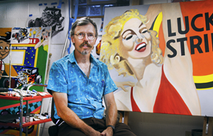 Brian J. Sullivan in his artist studio. Photos by Animah Boakye.