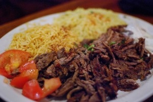 The Shawerma Platter at Layalina Mediterranean Grill. Champaign, IL. Photo by Alyssa Abay