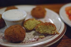 Falafel at Layalina Mediterranean Grill. Champaign, IL. Photo by Alyssa Abay