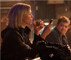 Charlize Theron and Patton Oswalt in  Young Adult . Used with permission from Paramount Pictures.