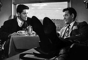 Farley Granger and Robert Walker in Strangers on a Train. Used with permission from Warner Bros.
